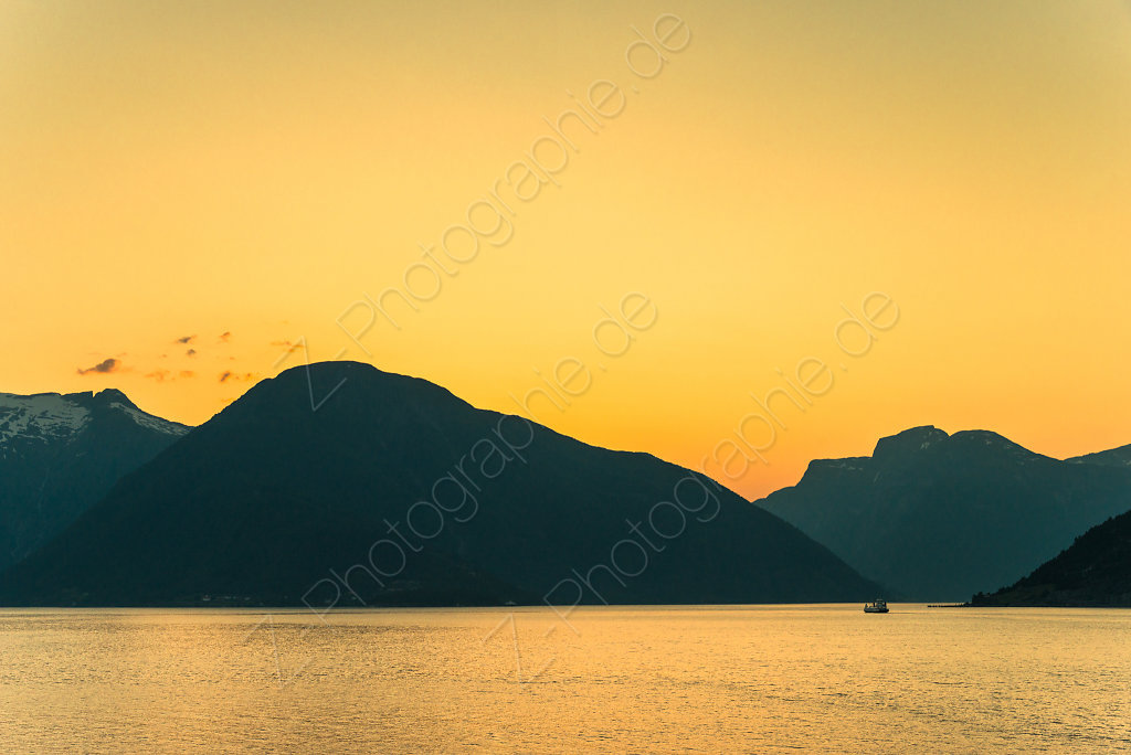 Sunset in the Fjords, Norway